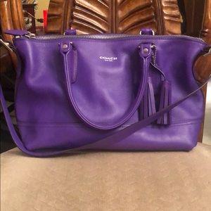 Purple Coach shoulder bag